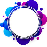 Blue and purple background. Paper round blue and purple abstract background. Vector illustration Stock Photo