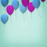 Blue and purple balloons Royalty Free Stock Photo