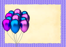 Blue and purple birthday balloons Stock Image