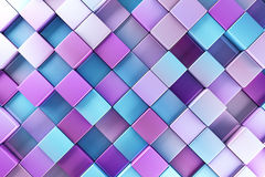 Blue and purple blocks. Abstract background Stock Image