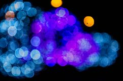 Blue and purple bokeh lights Stock Photo