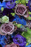 Blue and purple bridal bouquet Stock Photography