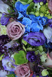 Blue and purple bridal bouquet Royalty Free Stock Photography
