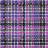 Blue purple check mosaic plaid seamless fabric texture Royalty Free Stock Photography