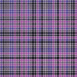 Blue purple check mosaic plaid seamless fabric texture Royalty Free Stock Photo
