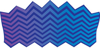 Blue and purple chevron background Royalty Free Stock Photography