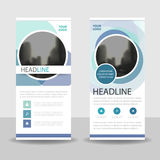 Blue purple circle Business Roll Up Banner flat design template ,Abstract Geometric banner template Vector illustration set Royalty Free Stock Photo