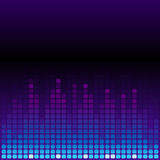 Blue and purple digital equalizer background Stock Photo