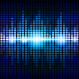 Blue and purple digital equalizer background Royalty Free Stock Image