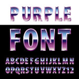 Blue purple font Royalty Free Stock Photos