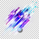 Blue and purple geometric shapes Royalty Free Stock Photo
