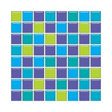 Blue, purple and green glass tiles Stock Photos
