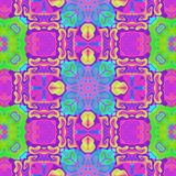Blue purple green kaleidoscopic pattern stock photo