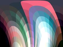 Pink dark phosphorescent geometries abstract background, geometries, bright background, colorful geometries. Blue purple green white pink abstract lights royalty free illustration
