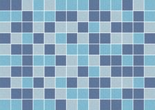 Blue, purple and grey square ceramic mosaic tiles texture background stock images
