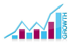 Blue and purple growth graph illustration Stock Image