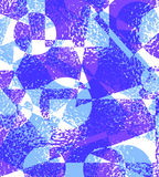 Blue purple grunge background of geometric shapes. Vector illustration Stock Photography