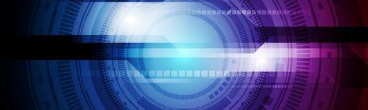 Free Blue Purple HUD Gear Technology Banner Design Royalty Free Stock Photo - 128549465