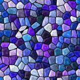Blue and purple marble irregular mosaic seamless pattern texture Stock Images