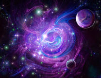 Blue-purple nebula. Wonderful deep space stock photos