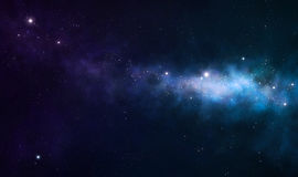 Blue and purple nebula Royalty Free Stock Image