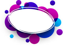 Blue and purple oval background. Paper blue and purple oval abstract background. Vector illustration Stock Photos