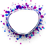 Blue and purple oval background. Paper blue and purple oval abstract background. Vector illustration Royalty Free Stock Images