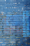 Blue and purple painted brick wall background Stock Image