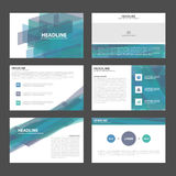 Blue purple presentation templates Infographic elements flat design set for brochure flyer leaflet marketing Royalty Free Stock Images