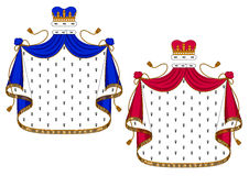 Blue and purple royal mantles Stock Photos