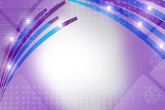 blue and purple shiny line, abstract background Royalty Free Stock Photos