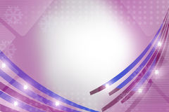 blue and purple shiny line, abstract background Stock Photography
