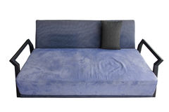 Blue-purple sofa that look so comfort. Royalty Free Stock Image