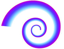 Blue-Purple Spiral. Blue and purple spiral on white background Royalty Free Stock Images