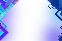 Blue and purple squares shape overlap left side,  abstract background Stock Photo