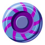 Blue and purple sweet lollipop candie icon Stock Image