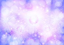 Blue and purple texture background bokeh and firework Royalty Free Stock Images