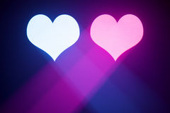 Blue and purple valentine hearts Royalty Free Stock Image