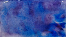 Blue purple watercolor abstraction Stock Photos
