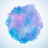 Blue and purple watercolor splash design element Royalty Free Stock Photo