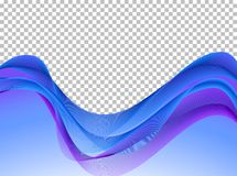 Blue and purple wavy lines background Stock Image