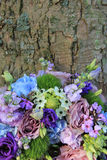 Blue and purple wedding arrangement Royalty Free Stock Image