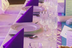 Blue and purple wedding Royalty Free Stock Photos