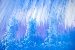 Blue, Purple and White Painting Detail royalty free stock photo