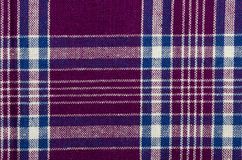 Blue, purple and white plaid Royalty Free Stock Photos
