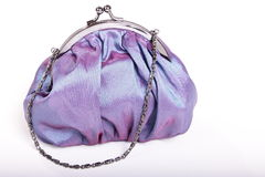 Blue purse Stock Images