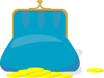 Blue purse Stock Image