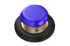 Blue push button Royalty Free Stock Images
