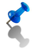 Blue push-pin. Royalty Free Stock Photo