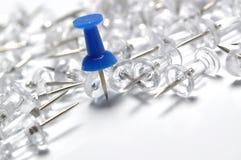 Blue Push Pin Royalty Free Stock Image